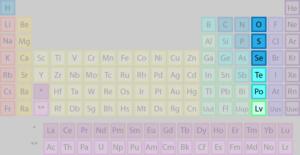 The chalcogens are found in group 16 of the periodic table.